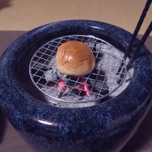 あんパン、焼いてみた! 〜火鉢を楽しむ〜
