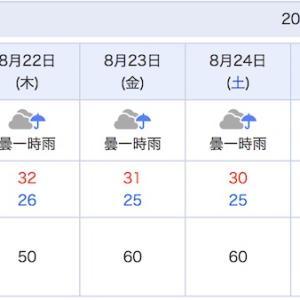 この週間天気予報って・・・。今年の夏は何かが違う