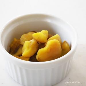 栗しごと、煮崩れた甘露煮もおいしく。