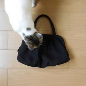 岩佐*3年目の、米沢織ツイードソフトバッグ。