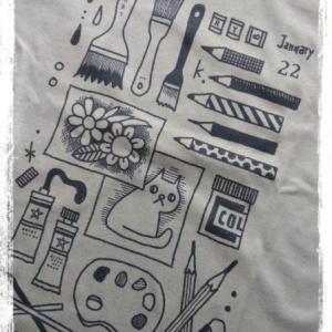 【絵】お絵描きTシャツ