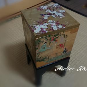 日本のお正月をイメージして~蒔絵&螺鈿の技法