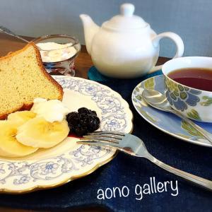 シフォンケーキと紅茶とアートと。