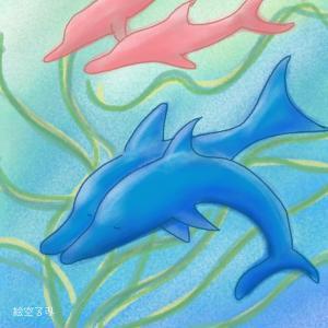 遊び心の秘密は? イルカのヒーリングアート