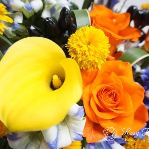 その日の仕入れによってお花の色合いが変わります3種類のアレンジ【フレッシュレッスン】