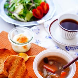 超簡単ー♪レンジで1分!野菜たっぷり絶品スープ!!