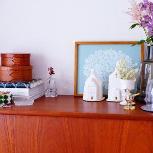 憧れの大物ヴィンテージ家具♪ちょっとずつ模様替えで春インテリアへ。