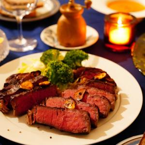 今日のポチ!といきなり大物検討中・・&「低温調理技」で更に美味しい!ステーキごはん。