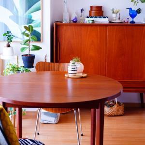 長く愛されているものを引き継ぐ♪お迎えしたダイニングテーブル。