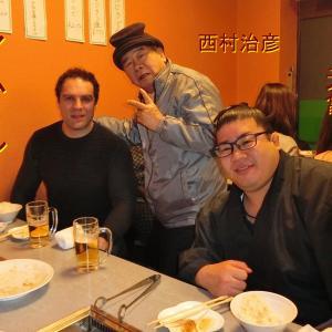 元幕内力士・阿夢羅のその後・食事会でまだ物凄く食べる