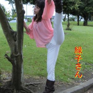 木更津港と中の島大橋・緑子さんが踊ります。
