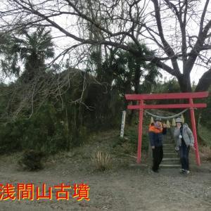 埼玉県上里町の浅間山古墳・中山道に面してあります・江戸時代から旅人が眺めて歩いた円墳です