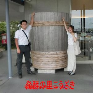 神崎神社のなんじゃもんじゃの木は大木です・発酵の里こうざきで買い物です