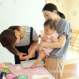 赤ちゃんの「今」をアートな作品に♡petapeta-art®ワークショプ