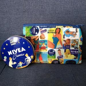 ◆ニベアNIVEA クリーム 青缶 かわいい缶とポーチ☆