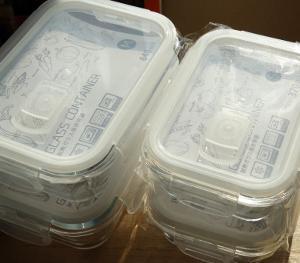 ◆3COINS 耐熱ガラス保存容器 MサイズとSサイズ購入☆