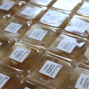 クリスタルカメリアサボン 琥珀色の椿の石鹸