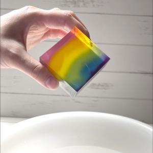 植物カラーで色付け 虹石鹸 簡単リラックス法
