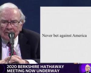 2020年バークシャー株主総会(16)アメリカの失敗に賭けてはならない