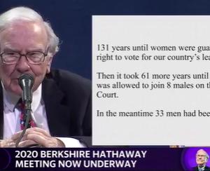 2020年バークシャー株主総会(17)192年待ちの座席