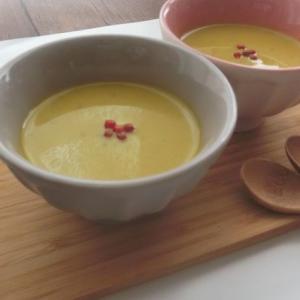 八方だしで簡単☆かぼちゃの豆乳スープ♪