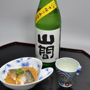 サバみそ煮と新潟第一酒造「山間 純米吟醸12号」