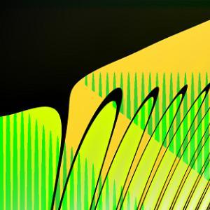 黄緑柿彩色模様硝子