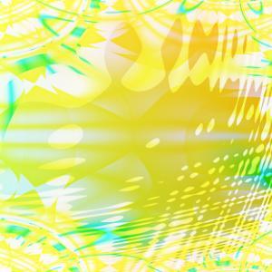 黄緑汚拭模様硝子