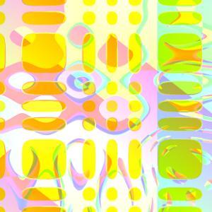 緑黄半透明シリコンゴム貼付硝子