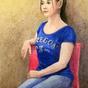 教室で描いた人物画その2