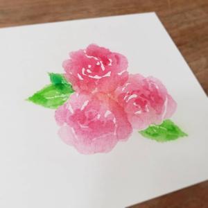 大好きなバラちゃんを水彩画風に・・・♪
