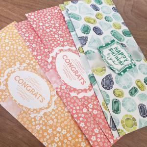 かわいいデザインペーパーで祝儀袋とか封筒とか♪