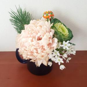 お正月のお花をリアレンジ♪
