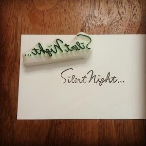 Silent Night...はんこを彫りました♪