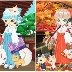 ニコッとタウン 2019年11月(2) 紅葉神社の巫女 ~A Shrine Surrounded By Maple Trees~