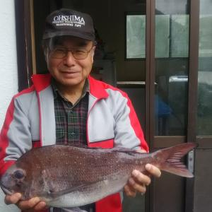 2019年4月8日式根島釣り情報