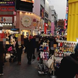 12月3日韓国旅の備忘録明洞はいつもの賑わい