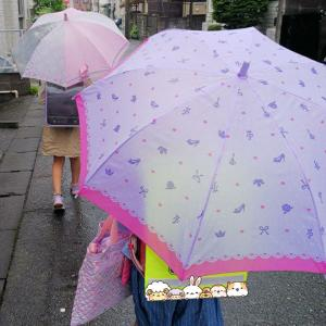 雨の分散登校初日