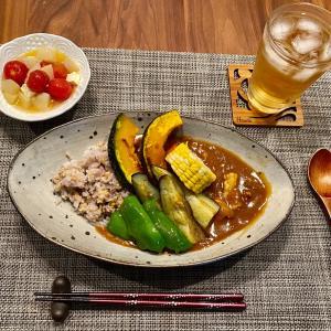 夏野菜の雑穀米カレー