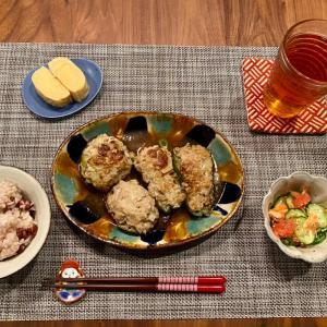 椎茸&ピーマンの肉詰めと新しいスーパー