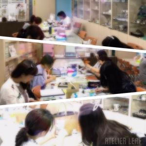 上半期台湾セミナー「MORIE&きらぴか鏡面仕上げ」のカップ&ソーサー