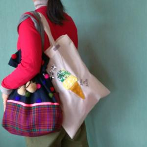 """布博からグルコン。娘迎えまで """"マルシェバッグエコバッグお買い物バッグお気に入りを持ち歩こう"""""""