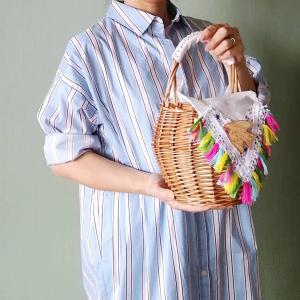 アイスクリームマルシェ 新作かごバッグのデザインです