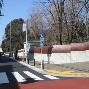 小石川植物園西側の歩道が完成!