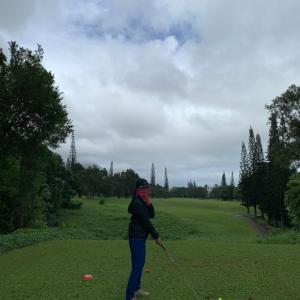 どしゃぶりの中 ゴルフDAY