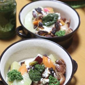 惣菜鶏とサツマイモの秋グリル