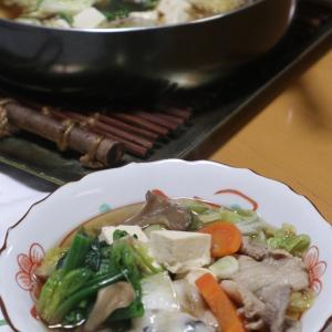 すき焼きダレ使いの肉豆腐鍋、ジャー善哉