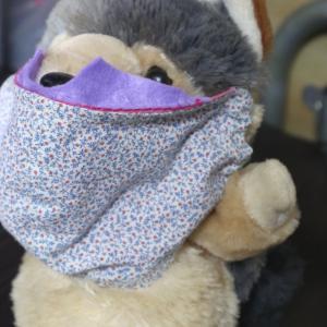 布マスクをカスタマイズしました。もろ爪