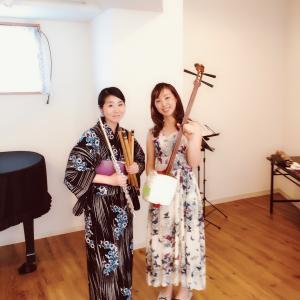 篠笛二重奏のコンサート in 横須賀