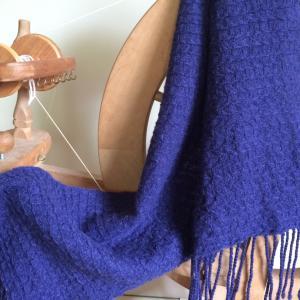 【データ付き】恵糸やさんの糸でマフラーを織る